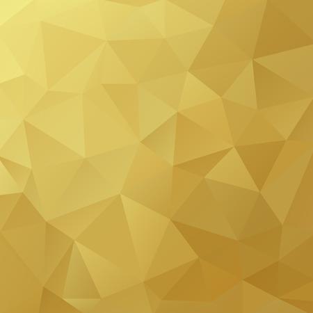 oro: Fondo triangular geométrica.