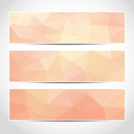 Set di moda rosa template banner o sito web intestazioni con sfondo astratto geometrico. Vettoriali