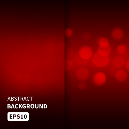 Abstract red lights bokeh vector background EPS10