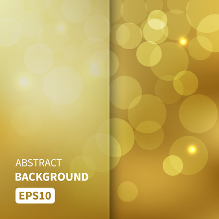 Abstract gold bokeh lights vector background EPS10 Vettoriali