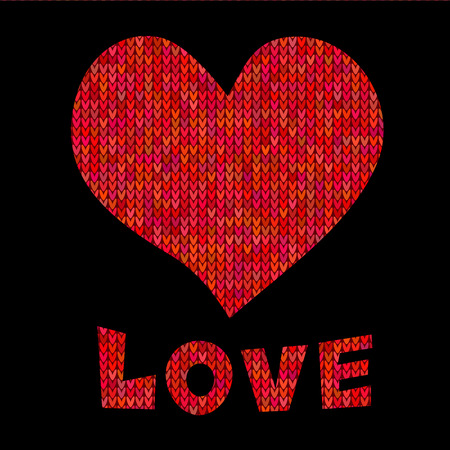 semaforo rojo: Ilustraci�n del vector con el coraz�n y el texto del amor. tarjeta de felicitaci�n de San Valent�n feliz, invitaci�n. EPS