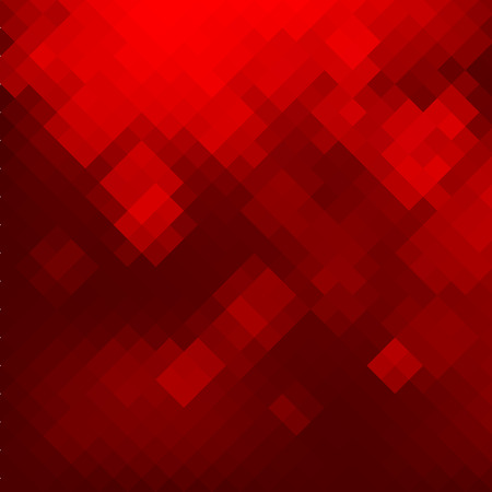 geometric shapes: Geometric mosaic red background. Vector illustration EPS8