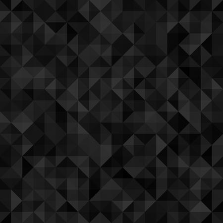Seamless black geometrical background. Vector design EPS