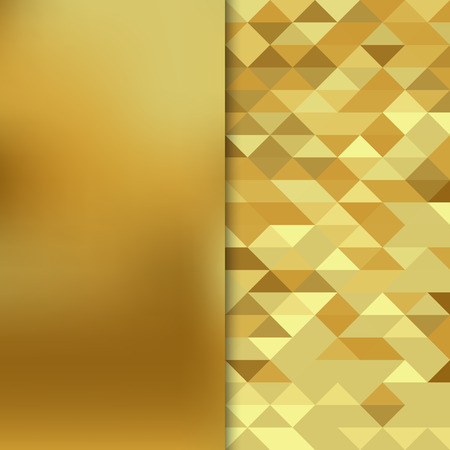 triangular banner: Abstract gold banner. Gold geometric background. Vector illustration EPS10