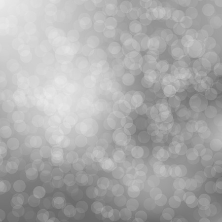 Silver Bokeh background with defocused lights. Design for your cards, brochures, cover, posters etc. Illustration