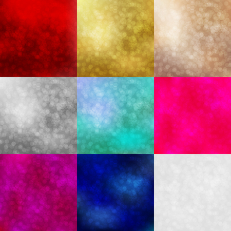 poster backgrounds: Backgrounds set with shiny bokeh lights. Vector design for Merry Christmas and Happy New Year party flyers, invitation cards, banner, brochure, poster, brochures etc. Illustration