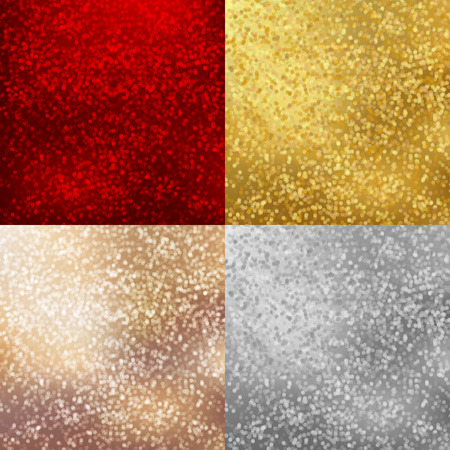 vector backgrounds: Backgrounds set with shiny sparkles. Red, Gold, silver, beige colors. Vector design for Merry Christmas and Happy New Year party flyers, invitation cards, banner, brochure, poster, brochures etc.