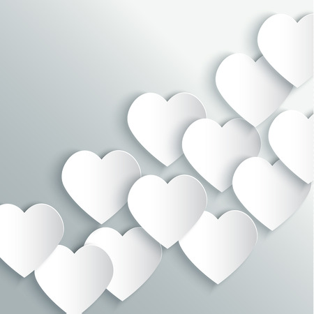 valentines background: Valentines Day Background with white paper Stock Photo