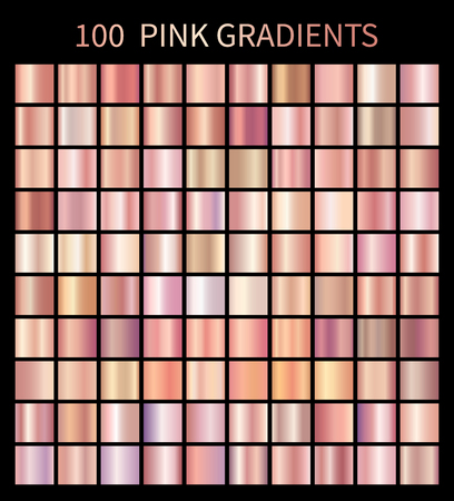 Pink rose gradients collection for fashion design Ilustrace