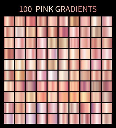 Roze roosgradients collectie voor modeontwerp Stock Illustratie