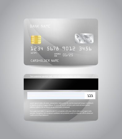 Realistic detailed credit card Illustration
