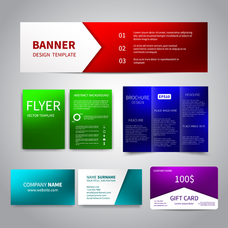 Vector Corporate Identity set Illustration