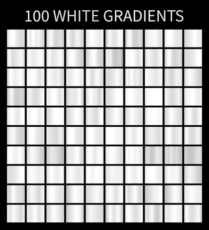 White gradients 100 big set Illustration