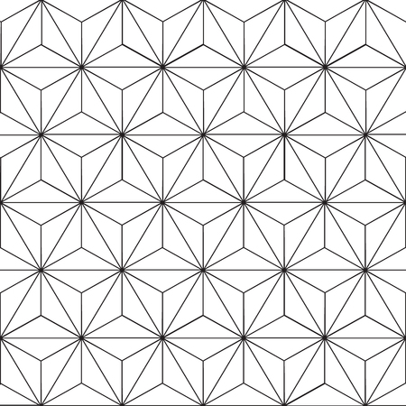 Seamless geometric pattern with floral design