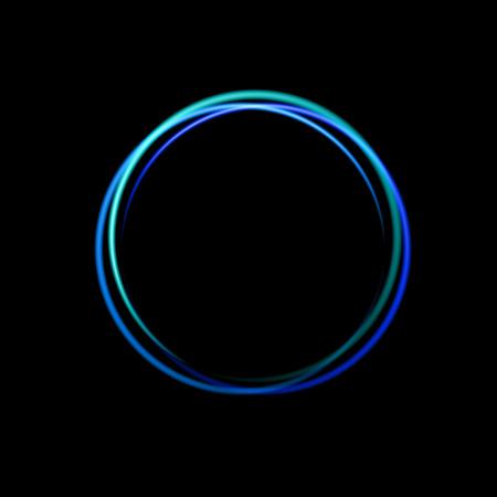 Blue neon circle background, design for labels, frames, disco bar banner, casino signboard etc. Illustration