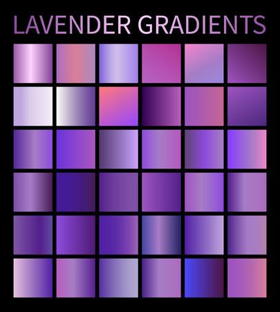 Vector Lavender gradients set for design purple Illustration