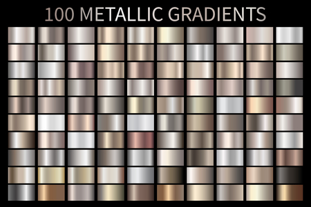 Dégradé de texture métallique, bronze, argent, or, chrome