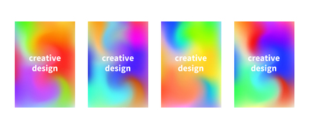 Vector flyers with liquid colorful vibrant background. Creative deign. Vector graphics