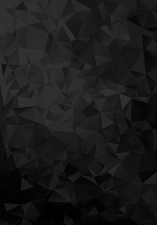 Vector Black geometric background design. Vertical Geometrical background in Origami style with gradient. Design for your background, cover, poster, banner, flyer, brochure