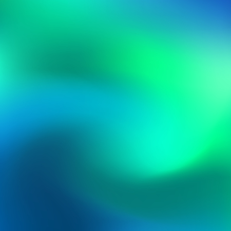Holographic neon abstract vector background for flyers, cover, poster, banner etc. Colorful vibrant background. Blue and green neon colors. Creative design. Vector graphics