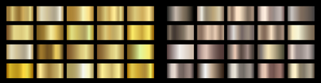 Gold, bronze, golden, metallic, copper metal foil texture gradient template Vektoros illusztráció