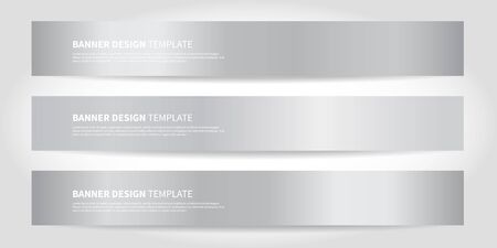 White Vector Banners with abstract beautiful shiny gradient background. Website headers or footers design