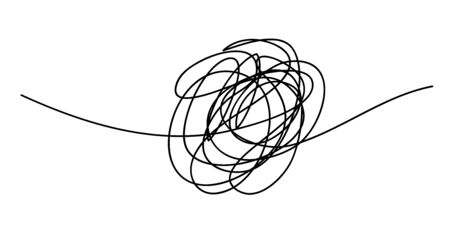 Scribble chaos line brush stroke, vector doodle sketch circle. Hand drawn design Vecteurs