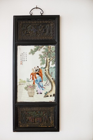 chinese painting hang on the wall photo