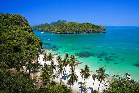 Tropical beach in Ang Thong National Park, Thailand  photo