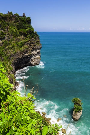 View of Pura Uluwatu temple Stock Photo