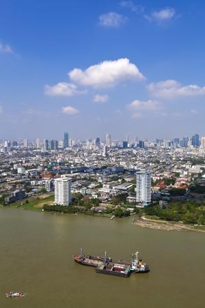 Chao Praya river city scape Bangkok Thailand  photo