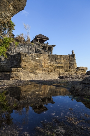 The Tanah Lot Temple, the most important indu temple of Bali, Indonesia