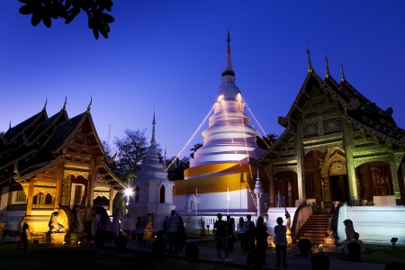 Wat Pra Singh the historical temple in Chaingmai Thailand Editorial