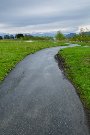road with green grass landscape Stock Photo - 14873110