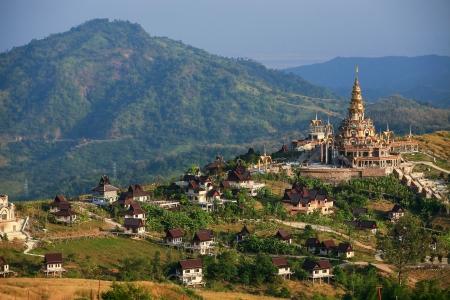 Temple landscape at Khao Kho, Phetchabun Stock Photo