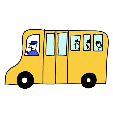 bus transportation is a comfortable vehicle Vector