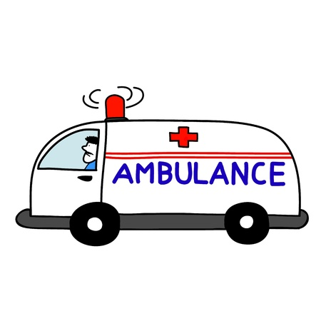 ambulance car open sirens Stock Vector - 17963864