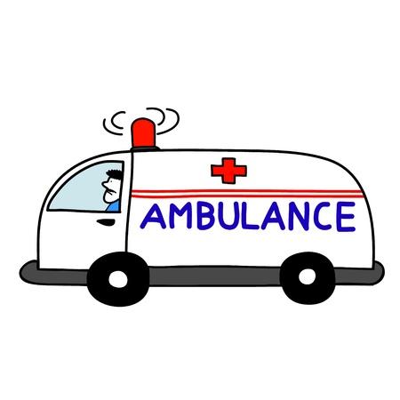 ambulance car open sirens Stock Vector - 17963864