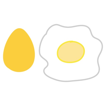 albumin: fresh egg will be fried Illustration