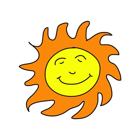 sunsmile in the sunny day Stock Vector - 17963838