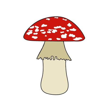 fairy toadstool: Poison mushroom is red