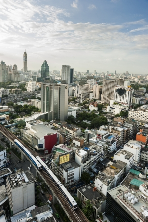 view of bangkok on top city scape Editorial