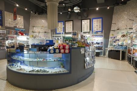 Aquarium souvenir store at Noboribetsu Marine Park Hokkaido Japan