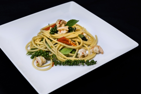 Thai Spaghetti Seafood Kheemao hot and spicy photo