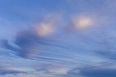 cirrus: cirrus clouds in blue sky in morning