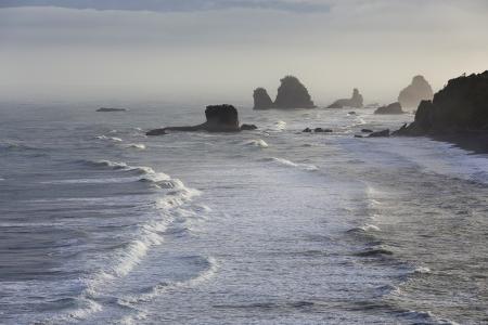 Pancake Rocks at Punakaiki, West Coast, South Island, New Zealand