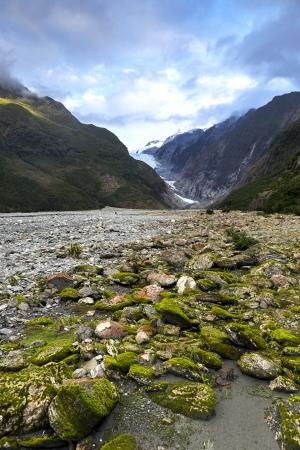 franz: franz josef glacier in New Zealand Stock Photo