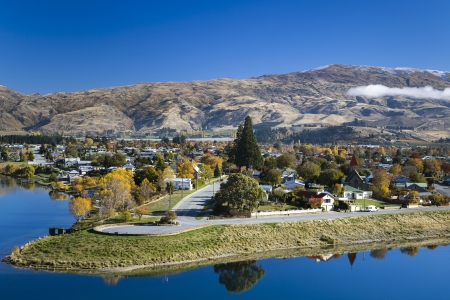 Lake Dunstan, Otago New Zealand Stock Photo