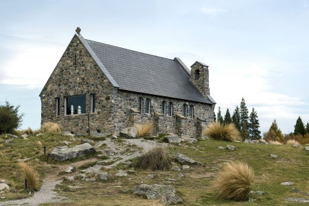 The church of the good shepherd, Lake Tekapo, Canterbury, New Zealand photo