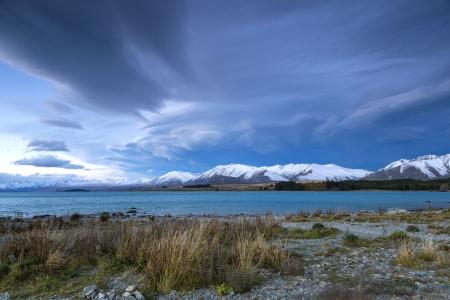cloud at Lake Tekapo, Canterbury, New Zealand photo